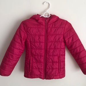 GAP PINK PUFFER JACKET SIZE 8 GIRLS